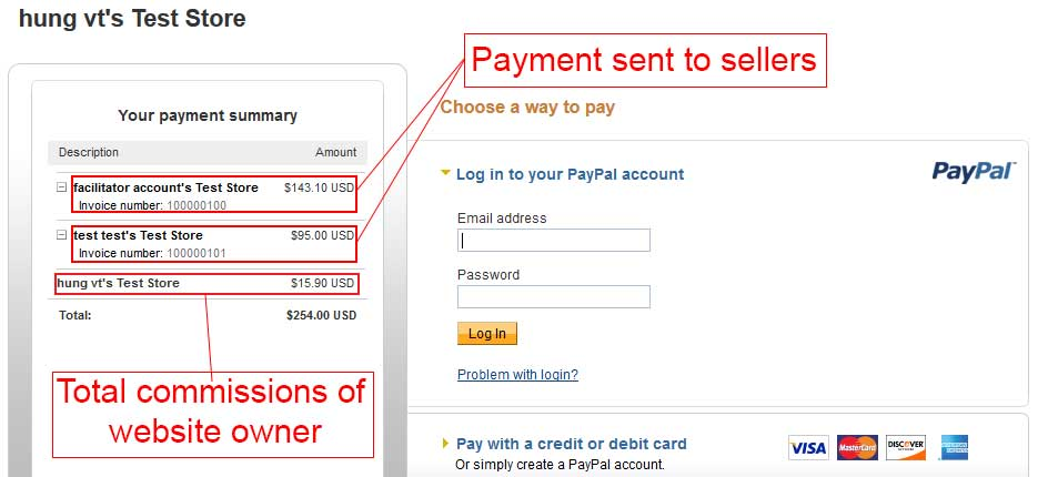 Paypal Adaptive Parallel Payment - Customer view all transactions
