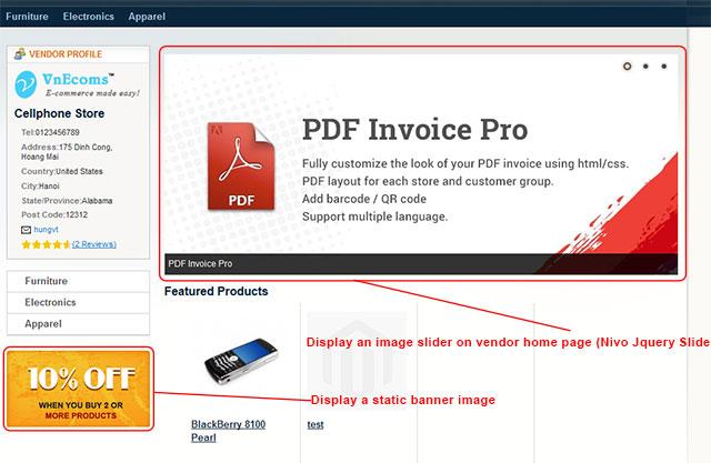 Vendor Banner Manager frontend