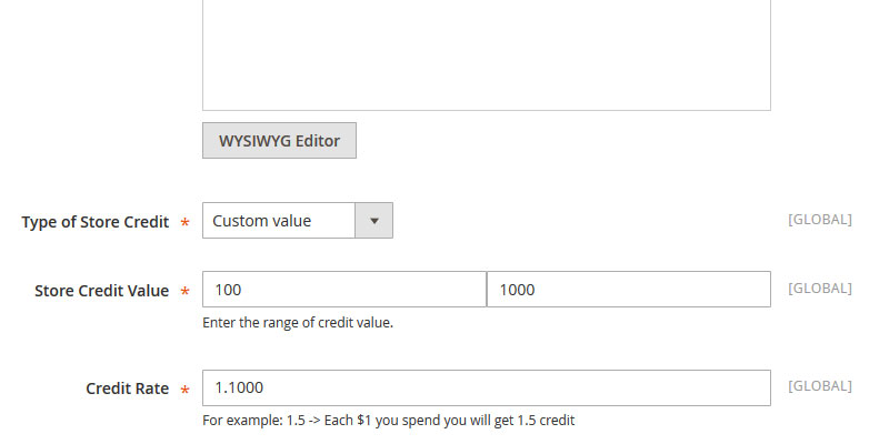 Add Product Credit - Custom Value